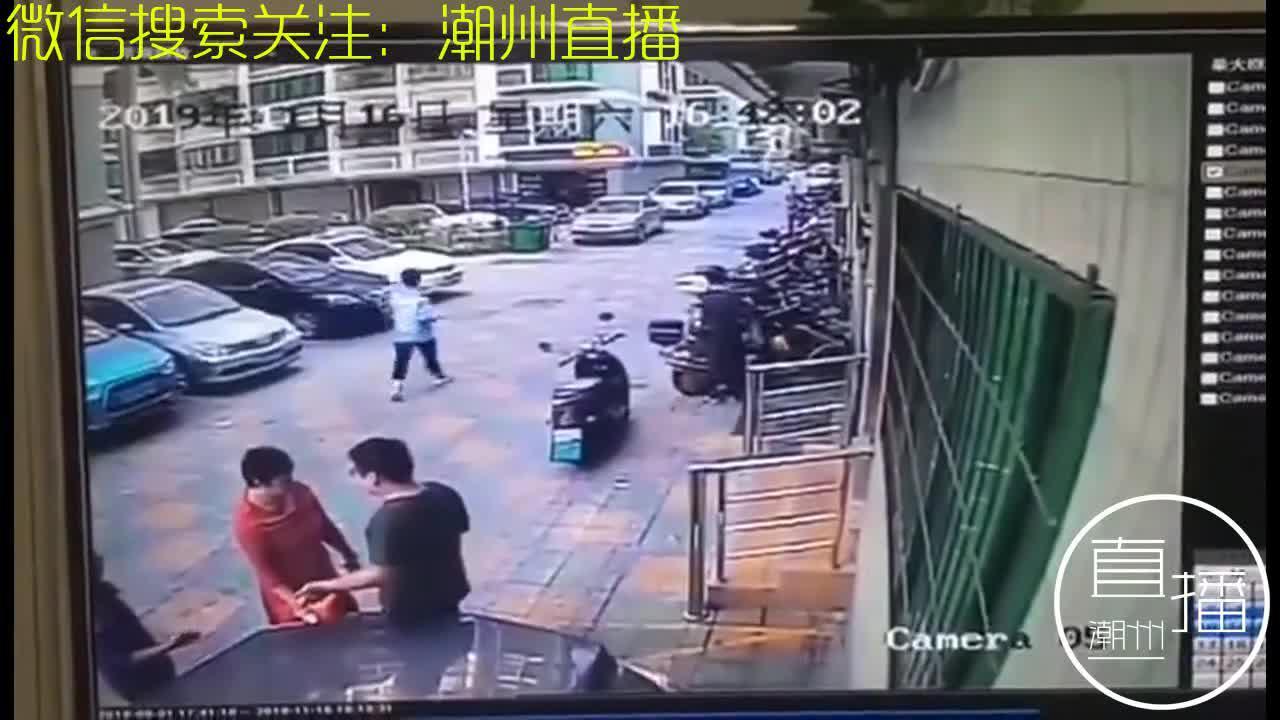 【恐怖】潮汕歇车烧骂冤家,司机开车直接撞人!