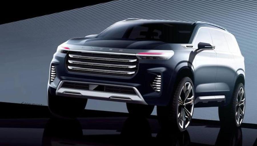 定位于中大型SUV,星途VX概念车设计图曝光,将于广州车展亮相