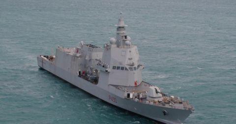 意大利最先进护卫舰开始海试 拥有独特冲角