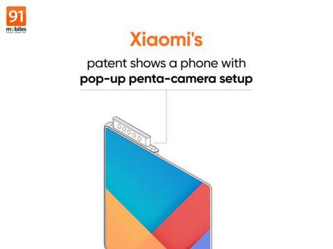 小米最新专利曝光:可折叠手机将采用5个弹出式摄像头