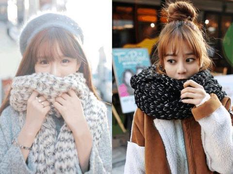 爱穿低领毛衣的女人,选对这3种围巾,保暖又时髦,搭出高级感!