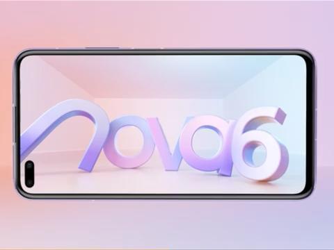 跟红米K30正面刚?华为nova6 5G官宣:双打孔屏+105度超广角自拍