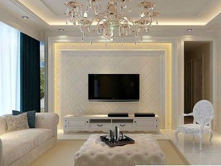 电视墙万万不要装大理石,年轻人更爱这样设计,省钱又好看
