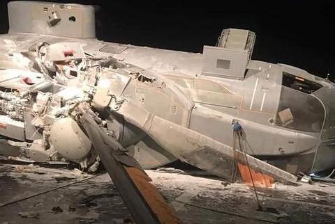 """意大利直升机直撞主力舰,摔了个""""大跟头"""""""