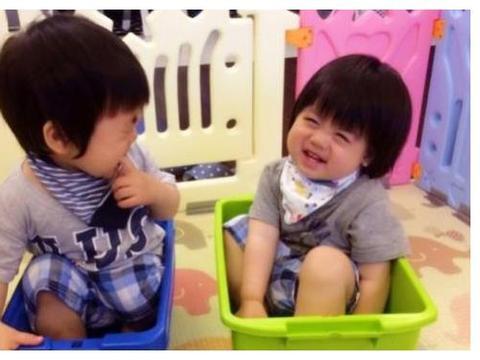 林志颖晒双胞胎儿子近照,双子星越长越不像,如今差距一目了然
