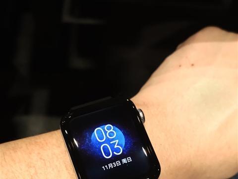 官方公布小米手表真机:四曲面圆润方形