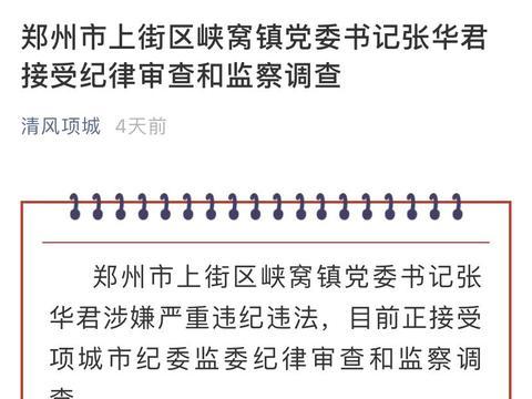 河南一书记涉嫌严重违纪违法被查:此前曾被举报通奸及巨额行贿