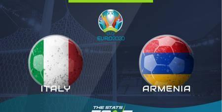 意大利vs亚美尼亚首发:因莫比莱、小基耶萨登场
