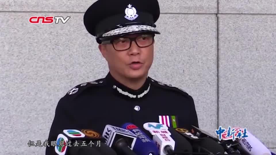 邓炳强履新香港警务处处长 强调打击暴力还社会平静