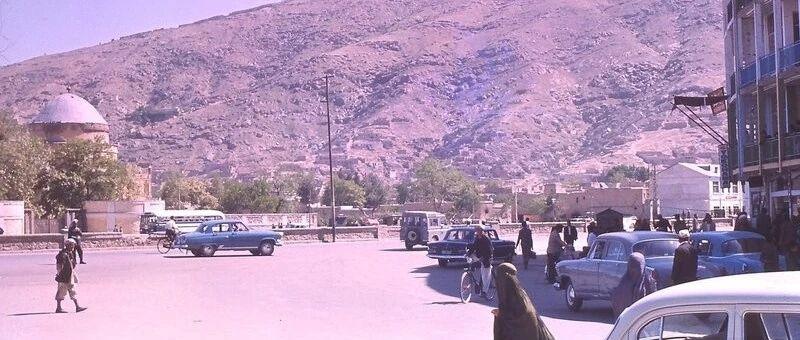60年代的阿富汗 喀布尔的苏联伏尔加小车 岁月静好的日子