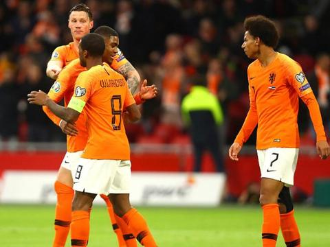 欧预赛:荷兰5-0仍无缘头名,威尔士2-0顺利晋级,比利时6-1狂胜