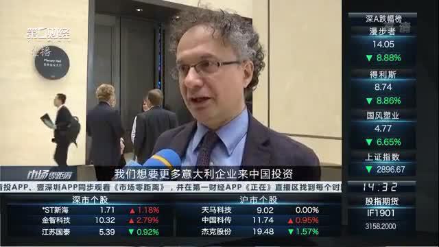 意大利国际贸易与投资前副部长:愿意让更多的意大利企业投资中国