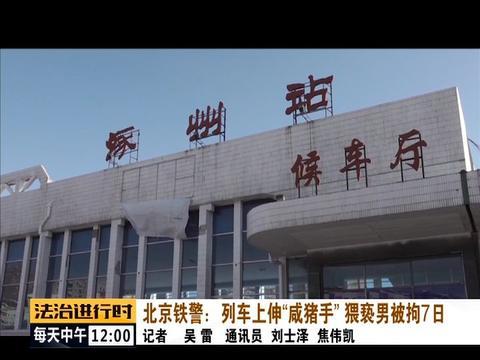 太嚣张!男子在火车上猥亵女乘客,已被北京铁警拘留