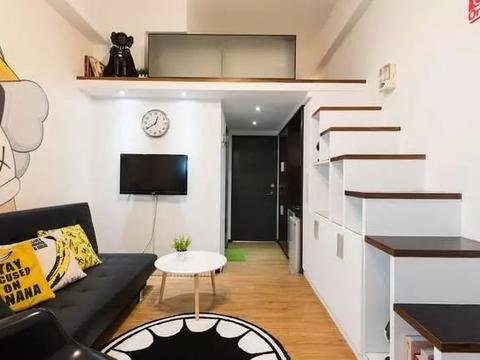 loft单身公寓简约时尚楼梯收纳柜让空间更整洁