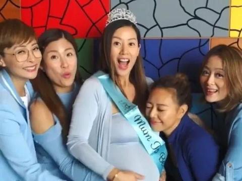 预产期将至!36岁前TVB人气女神挺巨肚开派对庆祝:决定顺产分娩