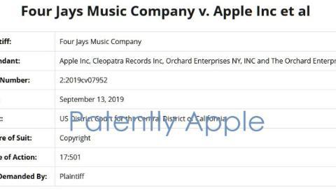 Four Jays起诉苹果,称其未经许可分发版权音乐