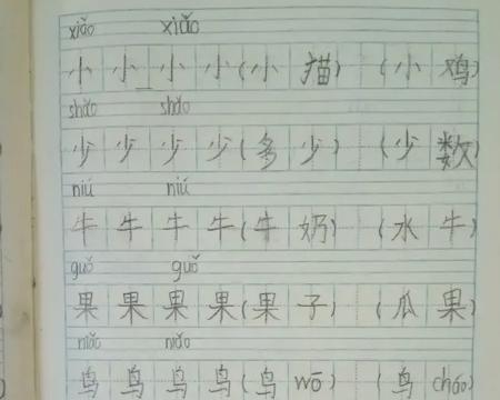 一年级小学生语文作业,看完笑出声:人才!像失传的武功秘籍