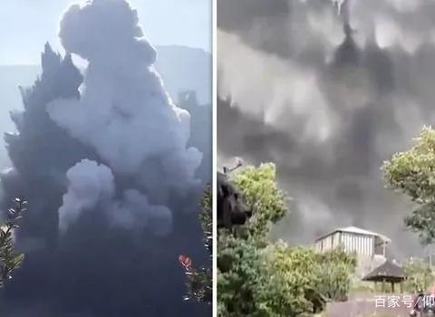 持续了5分钟!印尼火山爆发挡住了阳光,游客们纷纷逃离