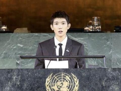 少年团体出道的王源,如今小小年纪就在联合国发言,令人骄傲