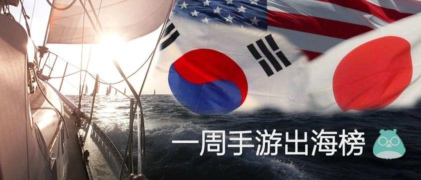 掌游天下夺得美国免费榜榜首,心动网络《大王不高兴》拿下韩国免费TOP7 | 一周手游出海榜