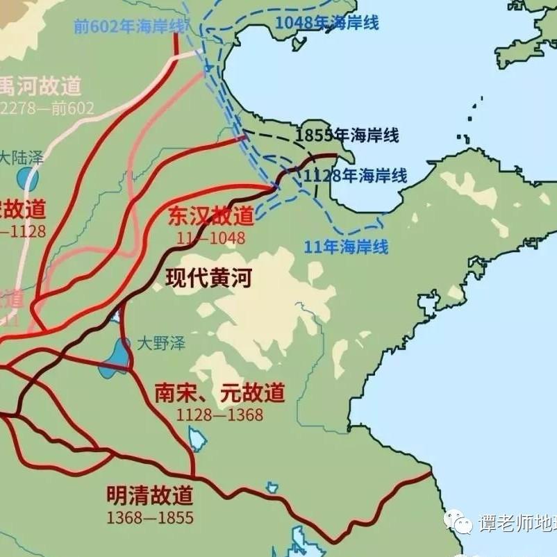 【地理解码】黄河入海口为什么没有形成大城市?(附考点设计)
