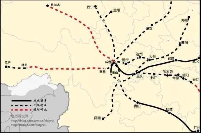 """谁是中国最牛逼的高铁""""米字型""""城市?"""