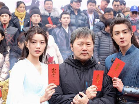 官鸿、张艺上主演的古装爱情网剧《玉昭令》开机