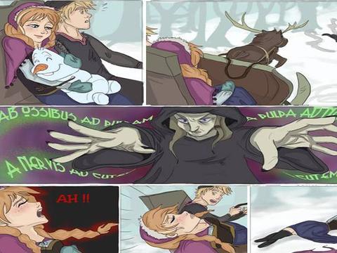 冰雪奇缘2:火元素继承人出现,安娜被诅咒拥有火魔法,艾莎回归