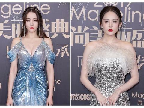娜扎最近2套礼服是一起批发的?能分走范冰冰代言,造型还差一截