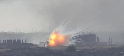 残忍,土耳其使用白磷弹轰炸叙利亚!库尔德:国际上必须追究责任