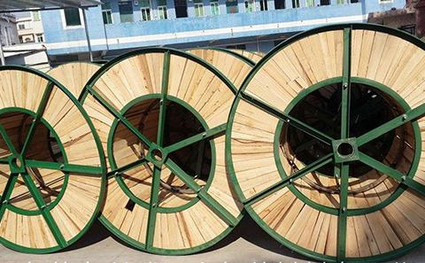 EBS手持喷码机在电缆盘/木制光缆盘标识应用