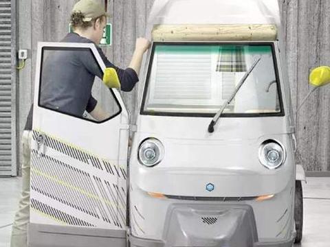 """真正的""""单身汉之车""""!全球最小的三蹦子房车,配太阳能充电"""
