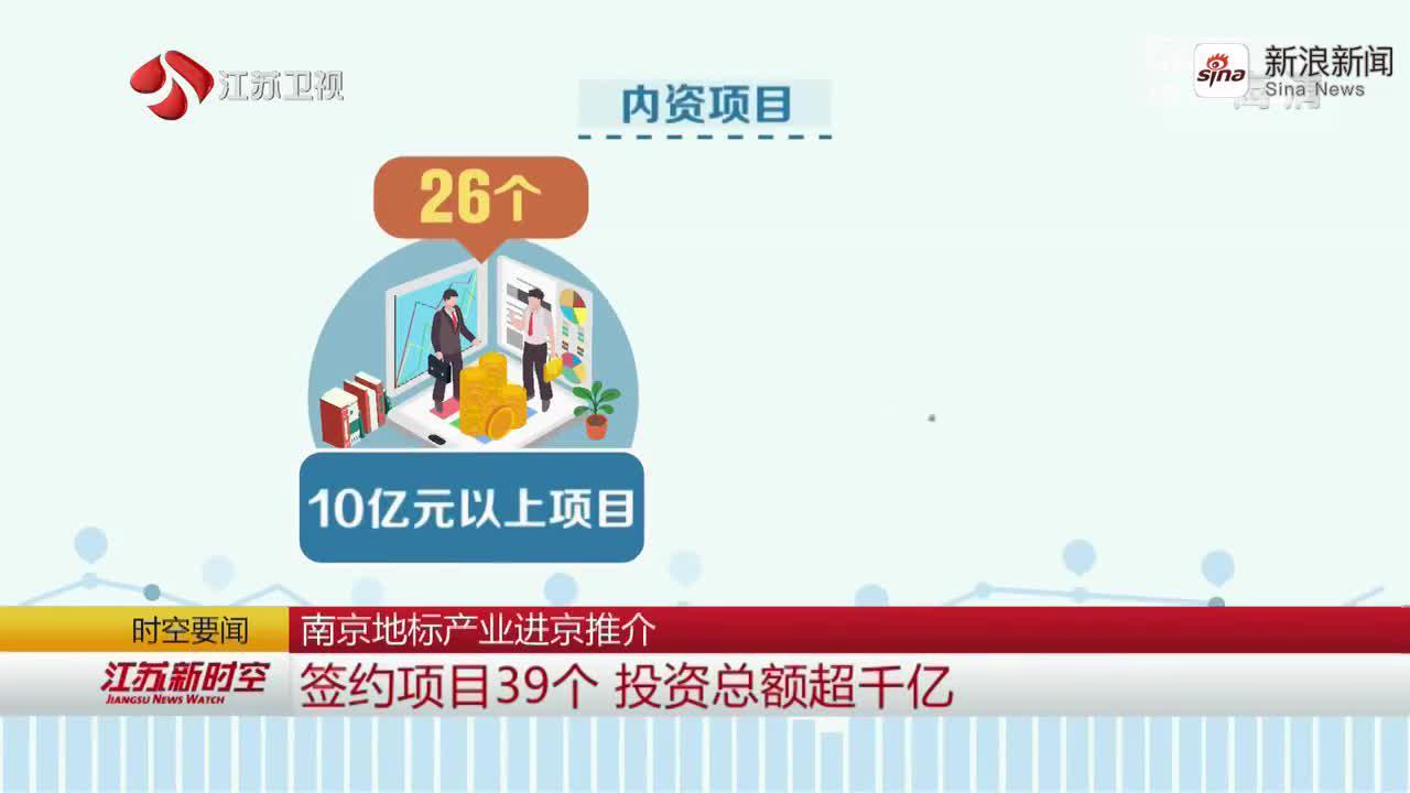 南京地标产业进京推介 签约项目39个 投资总额超千亿