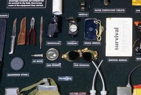 美军飞行员救生包,除了手枪匕首,为何还装金币金表?花钱买命!