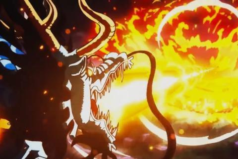 海贼王913集,神龙凯多一个龙息差点让草帽一伙团灭,威力巨大