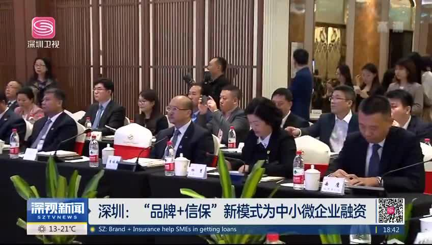 """深圳:""""品牌+信保""""新模式为中小微企业融资"""