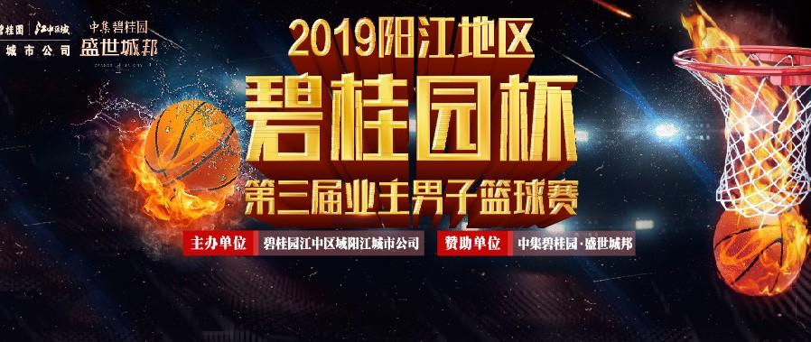 """2019阳江地区""""碧桂园杯""""第三届业主男子篮球赛开幕"""