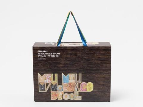 Miu Miu M/Marbles Stool亮相2019迈阿密巴塞尔艺术展