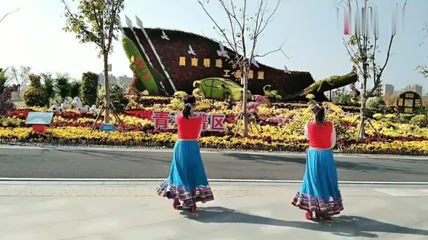 江南姐妹广场舞《阿妈的笑脸》编舞午后骄阳