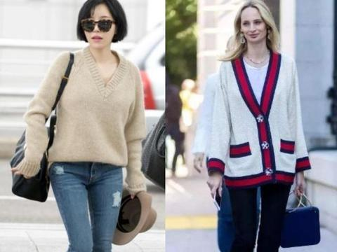 """女人是这3种脸型,买毛衣别忽视""""领口形状"""",挑对了会更显脸小"""