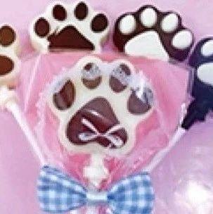 【活动发布】小记者制作纯巧克力猫爪造型棒棒糖啦