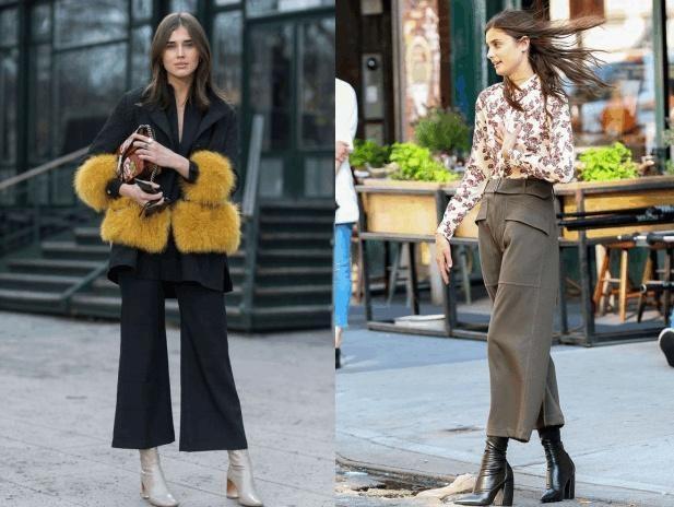 """梨形身材如何穿好""""阔腿裤""""?学会这2种搭配,轻松穿出大图片"""