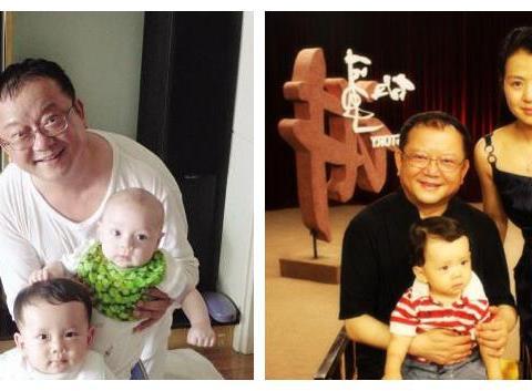 69岁王刚携妻儿出游近照,遭岳父阻挠交往,9岁儿被误成是孙子
