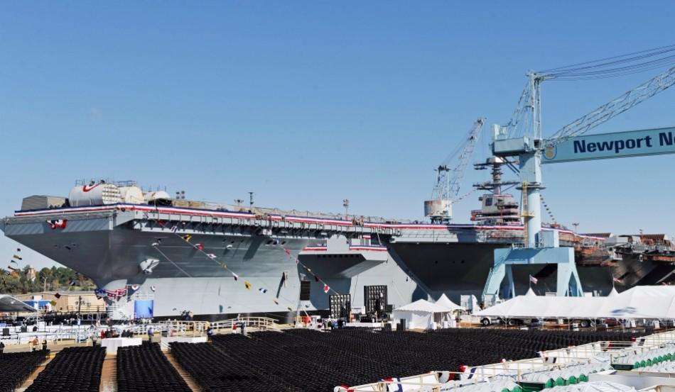 美海军最新航母命名,冠名者到场庆祝,却因一个问题被迫不能服役