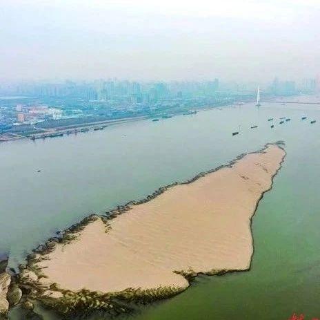 """长江武汉段水位12年同期最低,滩涂沙洲纷纷""""现身""""…网友:太神奇了!"""