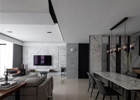现代风两房装修案例丨开放式厨房+气质书房,营造时尚潮流居家