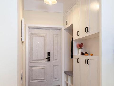 106平极简北欧风,玄关很迷人,卧室床头打满柜子,全屋实用漂亮