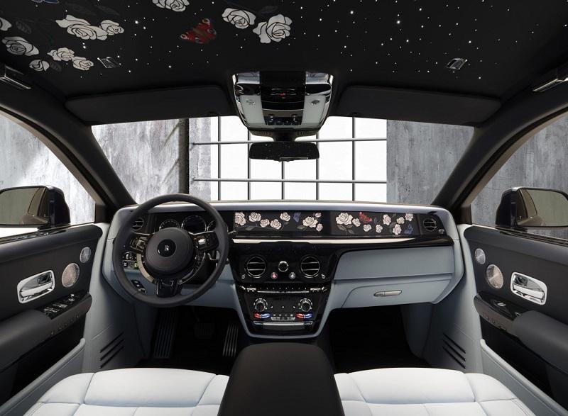 采用玫瑰花主题设计 典雅升华 劳斯莱斯发布幻影定制版车型官图