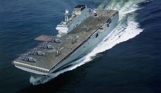 075攻击舰进度喜人,主舰体似已基本完成,将成登陆作战核心