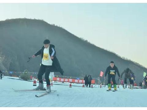 燃爆了!秦皇岛举办首届冰雪运动会滑雪比赛